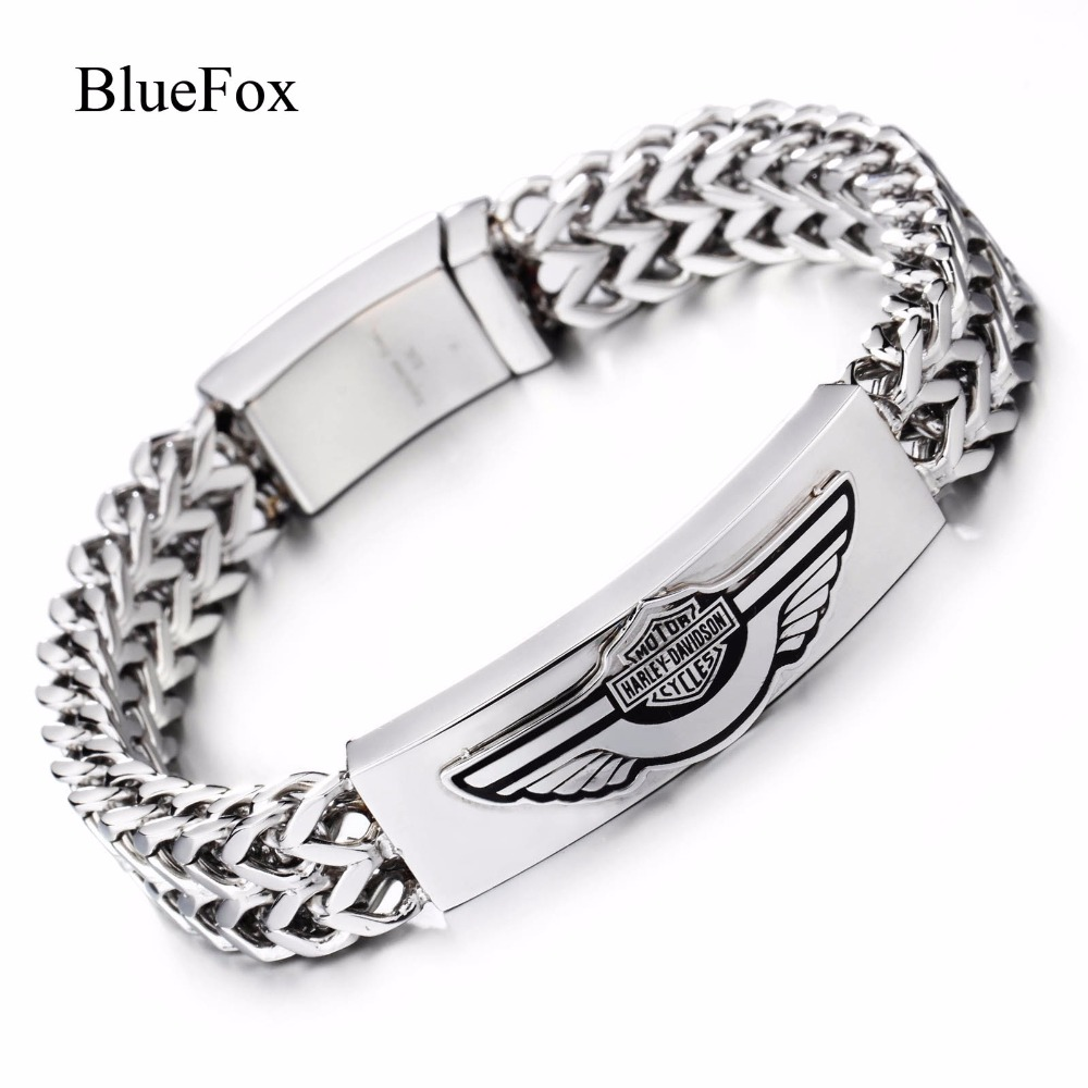 Stainless Steel Bracelet Charms: Men Fashion Charms Wings 316L Titanium Stainless Steel
