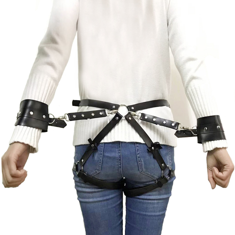 New Sexy Women Adjustable Leather Bowknot Belts Body Bondage Cage Punk Sculpting Harness Waist Belt Straps Belt Accessories