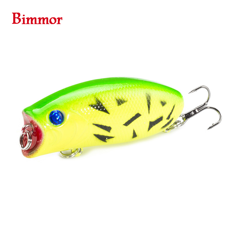 1PCS 3D Eyes Lifelike Fishing Lure 5.5cm 11g 8# Hooks Pesca Fish Popper Lures Wobbler Isca Artificial Hard Bait Swimbait 1pcs 29g 16 5cm minnow fishing lures japan deepswim saltwater hard bait 3d eyes plastic crank bait swimbait sinking wobbler