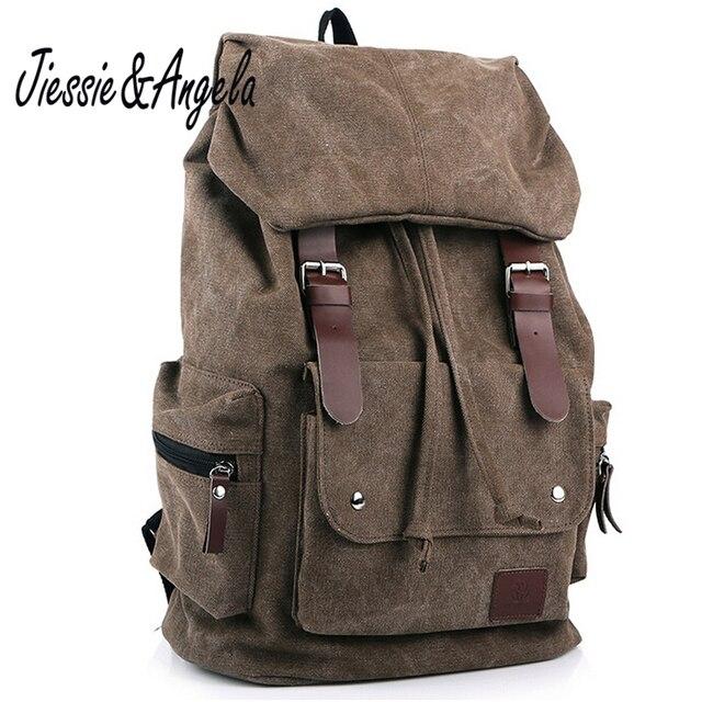 fd92c6f7a410 Jiessie   Angela новый модный рюкзак повседневные мужские рюкзаки мужские модные  сумки винтажные школьные сумки брендовые