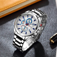 Curren 8275 new 2017 top brand luxury Watch Men relogio masculino quartz watch fashion casual alloy wristwatches 4