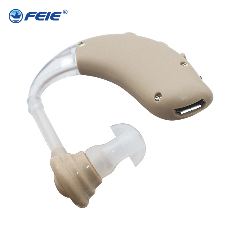 USB Hearing Aid for Deafness S-25 Rechargeable ear hearing aid mini device behind the ear for elderly acustico EU plug Drop Ship guangdong medial equipment s 16a deafness headphones digital hearing aid for sale