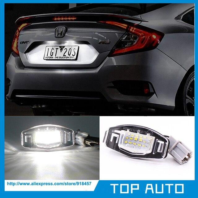2 unids LED Marcos de matrícula luz para Honda Civic Coupe em2 Sedan ...