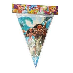 Image 2 - Вечерние одноразовые подставки для посуды с изображением Моаны, флага, чашки для детей на день рождения, вечерние украшения для друзей
