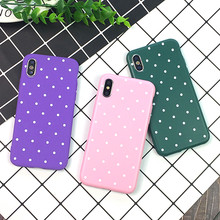 Lovely Spot Pattern กรณี TPU สำหรับ iPhone 6 6s Plus โทรศัพท์กรณีสำหรับ iPhone X 8 7 6 Plus XS Max XR Matte Soft Silicon Back Cover(China)