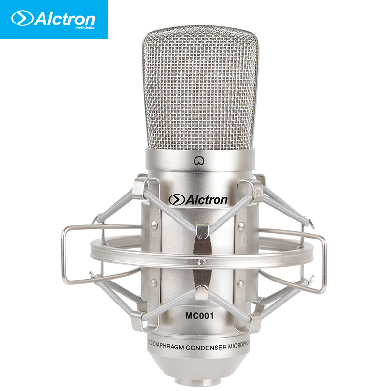 Top Quality Free shipping Alctron MC001 condenser microphone pro recording studio microphone,recording microphone large stock low price high quality multi functional recording condenser microphone yr01