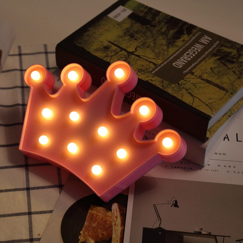 LED Crown Style Lamp Lantern Bedroom Hotel Showroom Decoration Night Light Standing Hanging