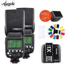 Godox V860 V860II-F Wireless TTL HSS Flash Speedlite Lithium-ion Battery Wtih X1T-F Wireless transmitter for fuji