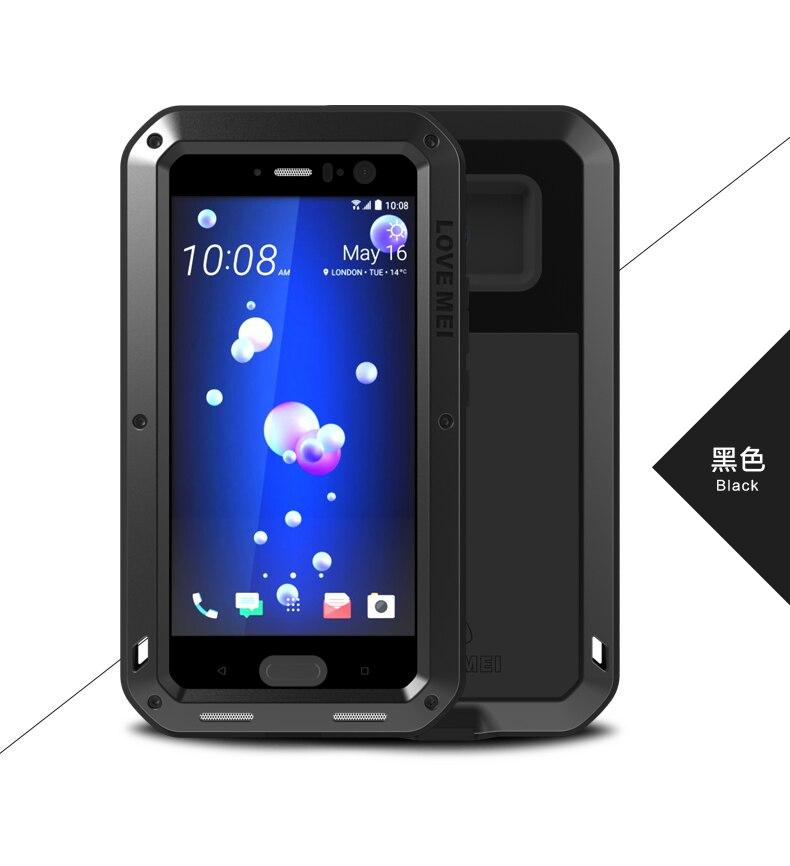 AMORE MEI Impermeabile di Caso Per HTC U11 Duro Antiurto In Alluminio Per HTC U11 Custodie di Marca di Lusso Del Telefono di Protezione Della Copertura Per HTC U 11