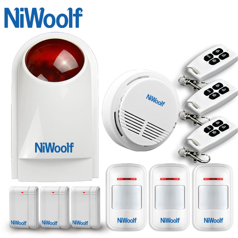 433MHz Wireless Strobe Siren Alarm System, Home Burglar , <font><b>Security</b></font> Spot Alarm System, Compatible with other GSM alarm system