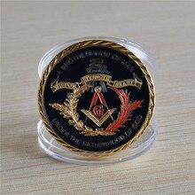 Sample Order - Masonic freemasons freemasonry secret society symbols gold plated coin