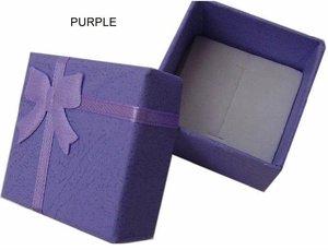 Image 2 - Toptan 48 adet/grup moda mücevher kutusu, çok renkler yüzük kutusu, takı hediye paketleme küpe tutucu durumda 4*4*3CM