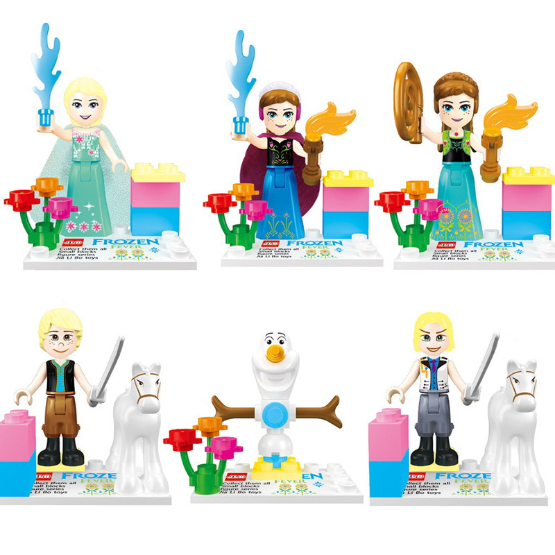 6pcs Set Figures Building Blocks Sets china brand Snow and ice colors compatible with Lego