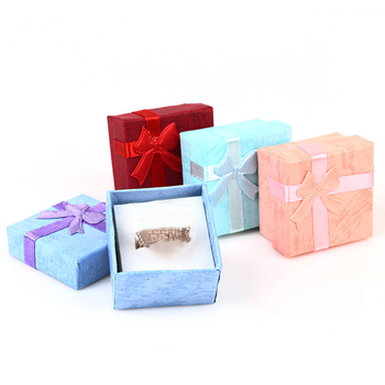 1PC Necklace Earrings Ring Packaging Jewelry Paper Gift Box