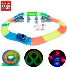 Elektronische led auto speelgoed zwaailichten auto jongens meisjes gift racebaan auto kids glow racing flexibele track brinquedos