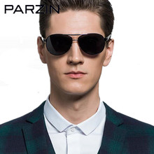 Parzin Cool Men Sunglasses Polarized Oversized Male Sunglasses Driver Sun Glasses Shades Black With Case 8008