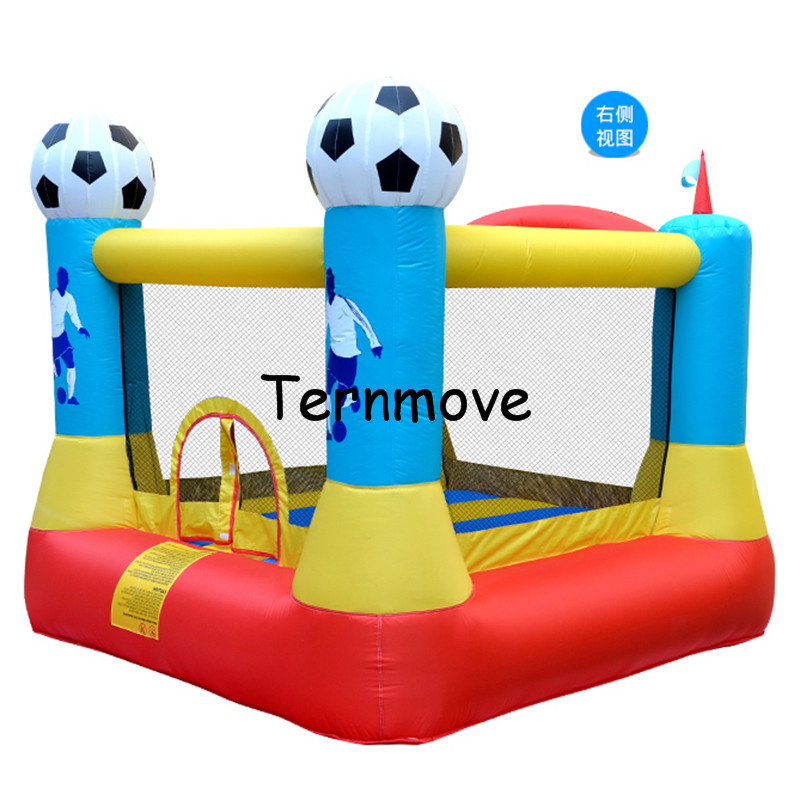 child inflatable indoor playground trampoline inflatable football Bounce House with Blower Jump 'n Slide Bouncer jumper стоимость