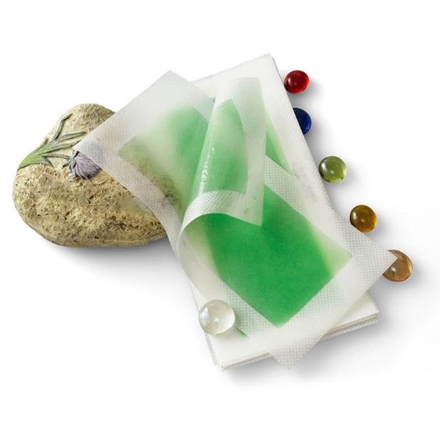 2 adet 1 Levha Yeşil Epilasyon Çift Taraflı Soğuk balmumu şerit Kağıtları Bacak Vücut Yüz Ağda Nonwoven Tüy Dökücü Sökücü