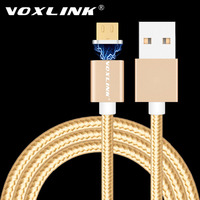 VOXLINK Magnetic Cable 2.4A Micro USB Charging Data Cable Magnetic Adapter Charger for Samsung Xiaomi Huawei LG Android phones