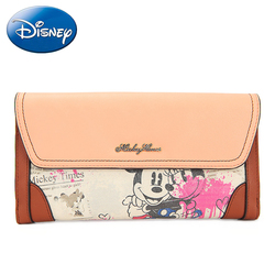 Disney Women's 2019 Fashion PU Hangbag Wallet Girl Long Purse Bags Clutches Leisure Hand Wallet-Card Holder Wristlet Hang Bag