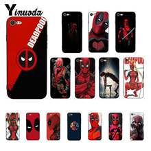 Yinuoda Deadpool Comic Spiderman Custom Painted Phone Case voor iPhone 8 7 6 6S 6Plus X XS MAX 5 5S SE XR 10 Cover 11 pro max(China)