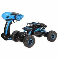 Precio 1:18 2,4G 4CH 4WD Radio RC coche 4x4 conducción Control remoto Rock rastreadores de coche juguetes de vehículos de alta velocidad para regalo de niños