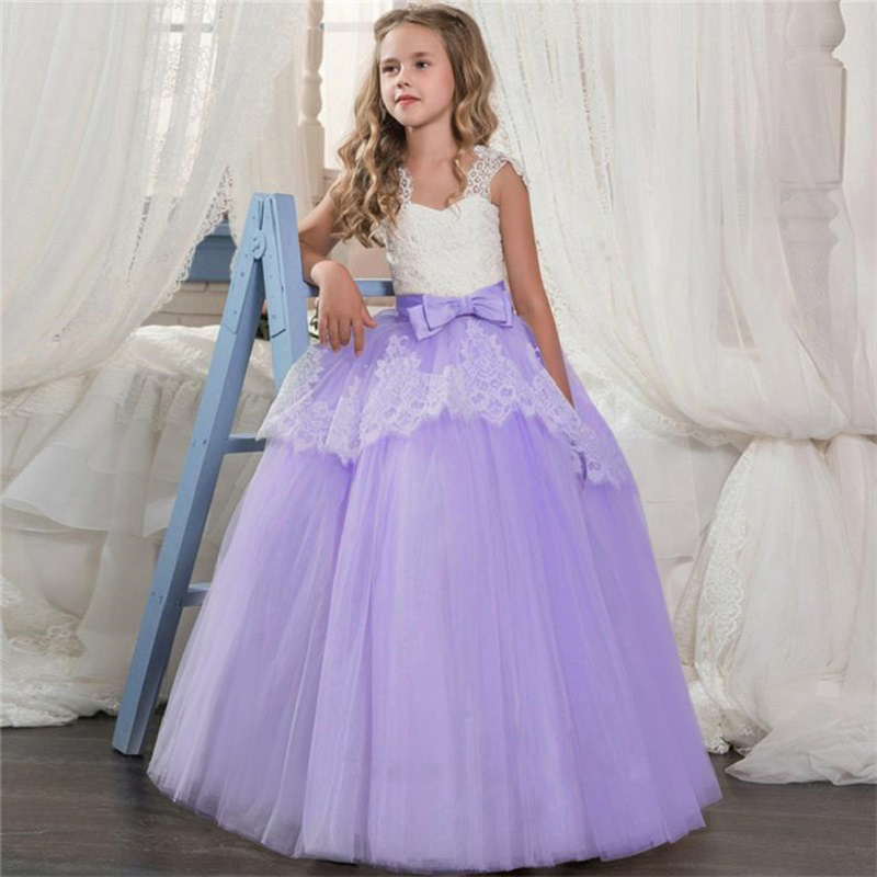 Новинка года, Открытое платье с цветочным рисунком на спине для девочек высококачественное свадебное платье с цветочным узором для мальчиков элегантное праздничное платье с кружевом и цветочным узором для девочек - Цвет: purple