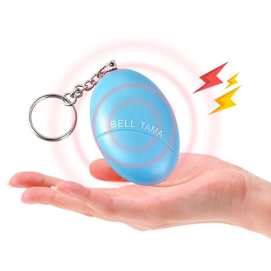 Self Defense Alarm <font><b>120dB</b></font> Egg Shape Girl Women Security Protect Alert Personal Safety Scream Loud Keychain Emergency Alarm image