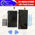K4000 Oukitel Display LCD + de Toque Digitador Da Tela 100% Original Novo LCD Tela Do Painel De Vidro Assembleia Para Oukitel K4000 5.0''