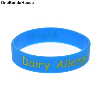 1PC Alert Dairy Allergy Silicone Wristband for Daily Reminder Kids Size 1