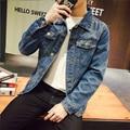 Chaqueta de Jeans de Mezclilla Hombres Chaqueta de Bombardero JC05 S-5XL Hombres Veste Homme Chaquetas Hombre 2016