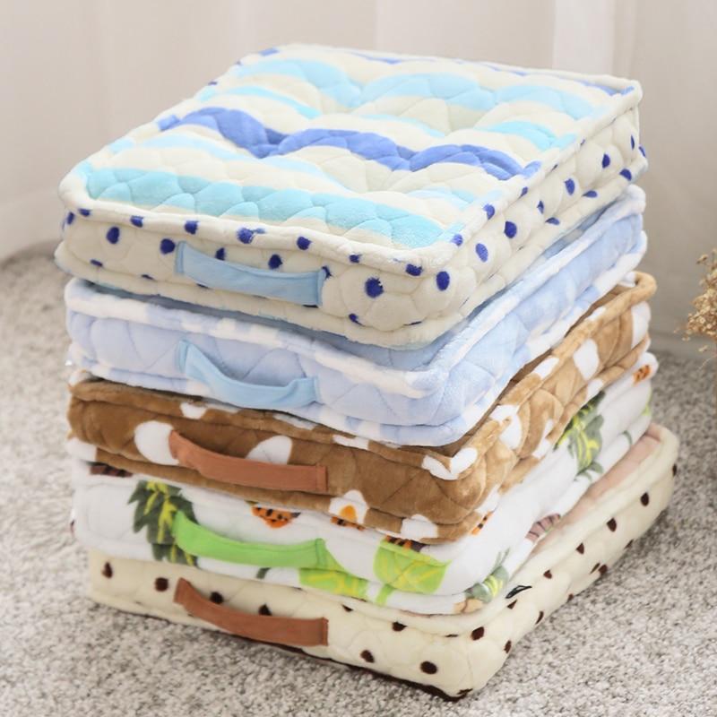 Thick plush cushions student classroom office floor cushions pan window mats bench mats