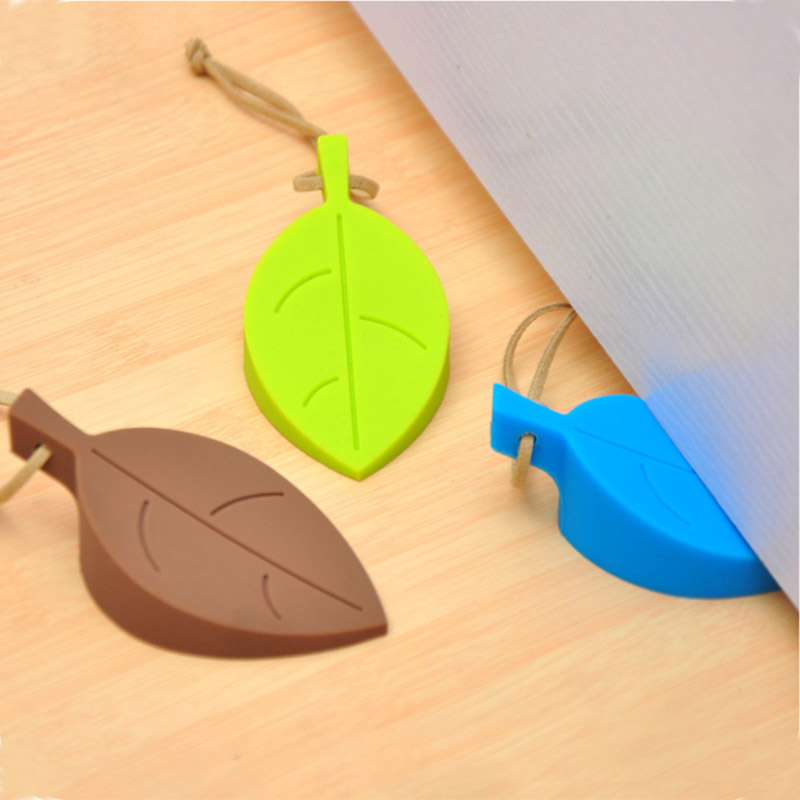 Cartoon leaf door stopper baby products anti-pinch device sa