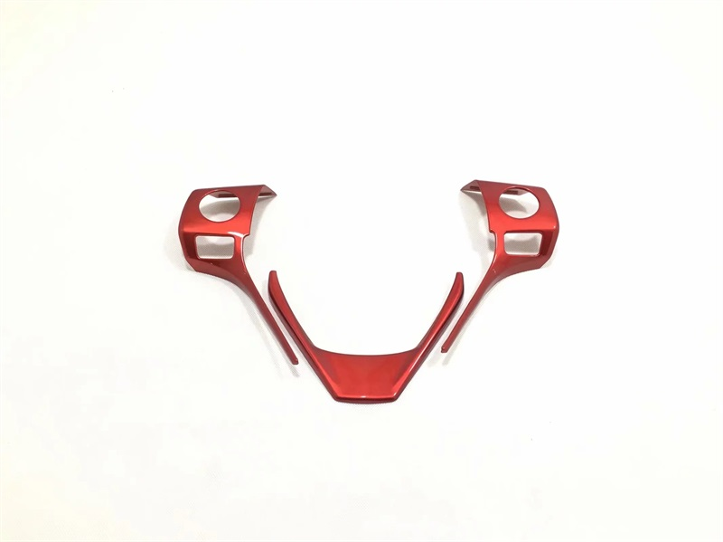 For Toyota RAV4 <font><b>RAV</b></font> <font><b>4</b></font> <font><b>2014</b></font> 2015 2016 2017 ABS Chrome Inner Steering Wheel Decoration Cover Trim Stikers Car Styling Accessories image