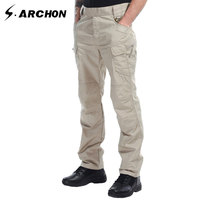 S Archon IX7 Summer Tactical Army Multi Pocket Slim Pants Breathable Scratch Resistant And Waterproof Cargo