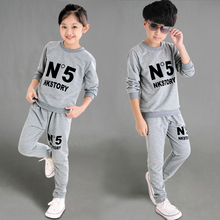 2016 male child autumn 3 4 5 - - - - 6 8-9-10 female child casual clothing child sports sweatshirt set