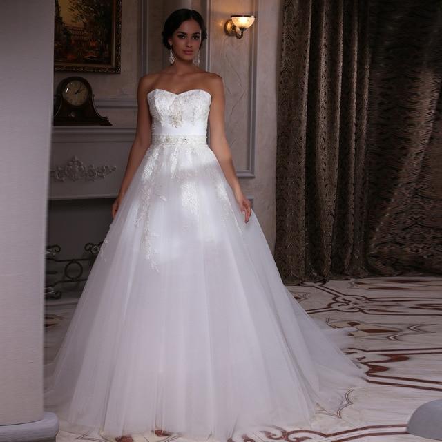 Lussuoso sweetheart cina abito da sposa in pizzo con cintura vestido de  novia prezzi a buon d442dd35852