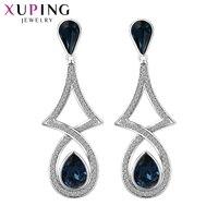 11.11 Fırsatlar Xuping gelen Moda Küpe Yüksek Kalite Kristaller Kadınlar Hediye için Swarovski Renk Kaplama Charm Tasarım XE2219
