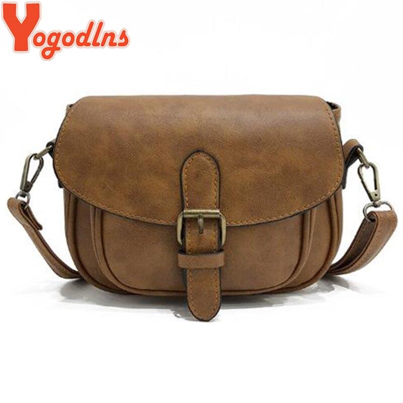 Yogodlns New Arrival PU Leather Women Shoulder Bags Female Handbags Mini Crossbody Messenger Bag Vintage Small Flap Bag Bolsos messenger bag