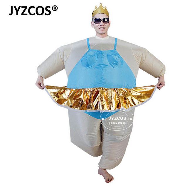 JYZCOS Ballerina Costume for Men Women Tiara crown Funny Inflatable Costume Adults Airblown Funny Inflatable Fat Suit Outfits  sc 1 st  Aliexpress & Online Shop JYZCOS Ballerina Costume for Men Women Tiara crown Funny ...