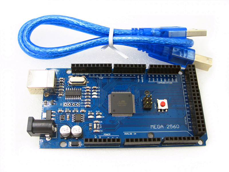 New , 5set/LOT , Mega 2560 R3 ,CH340G, ATmega2560 AVR USB board +free USB cable X