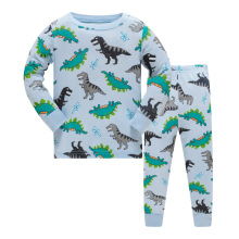 Купить с кэшбэком 2019 Children Boys clothes pajamas sets Long sleeve top+pants kids pajamas Letter cotton o-neck toddlers