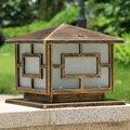 Alumínio Die-casting lâmpada pilar coluna da porta da Europa à prova d' água luz ao ar livre praça luzes cerca de Bronze Preto