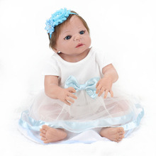 boneca Hand implanted hair doll reborn bebe girl reborn menina de silicone menina 55 cm baby alive girl toys brinquedo