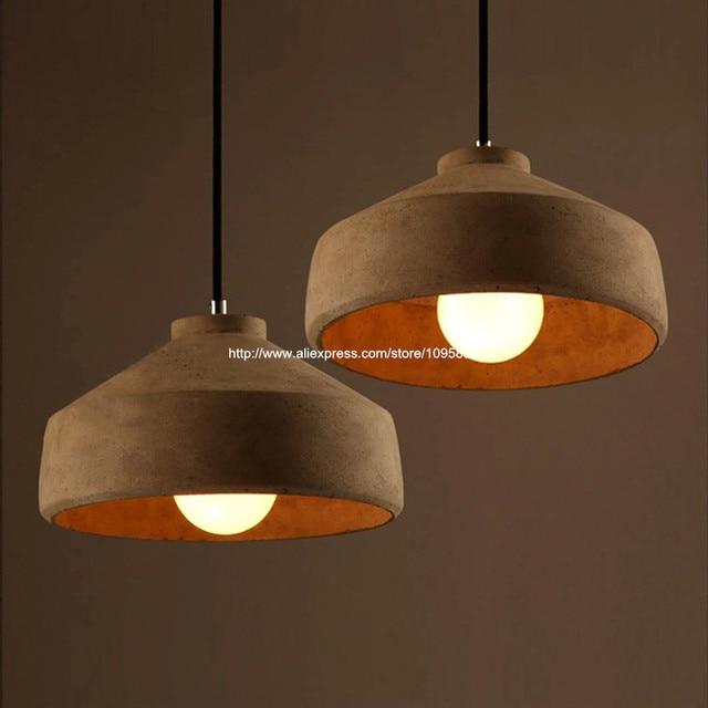 modelos de color gris retro cemento industrial luces pendientes comedor lmparas de techo luminarias de