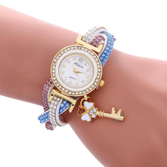 Women Bracelet Watch Wrap Around Fashion Padlock Diamond Lady Womans Wrist Watch reloj Mujer Pulsera Ladies Wrist Watches