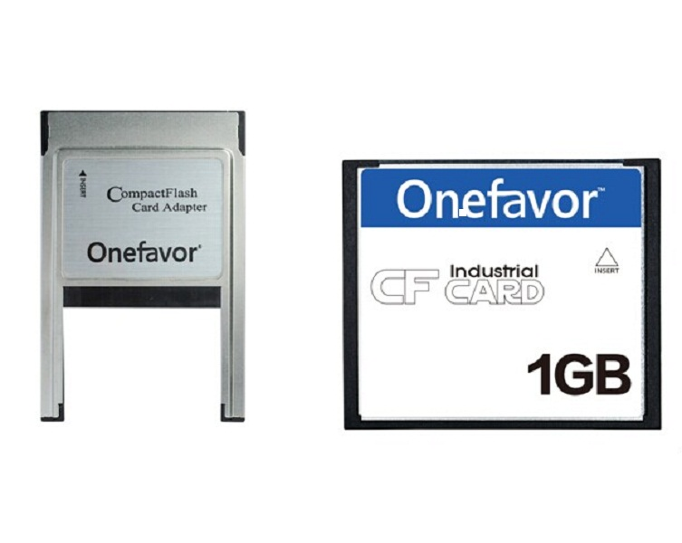Promotion! Onefavor 32MB 64MB 128MB 256MB 1GB 2GB 4GB Compact Flash Card With ATA PC PCMCIA Adapter For JANOME Machines