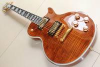 New Cnbald lp supreme electric guitar ebony fretboard/fretside binding one piece neck gold hardware in beer root brown 120818
