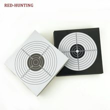 100pcs/Pack 14x14cm Shooting Targets Paper Sticker Black White Top Quality Air Rifle Pistol Shooting Targets Paintball Accessory(China)