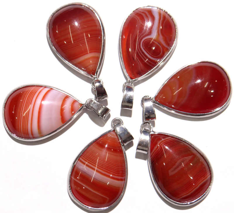 Colgante con forma de gota de agua de ágata a rayas de piedra Natural a la moda encantadores dijes de joyería para collares fabricación de joyas 1 Uds